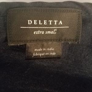 Anthropologie Tops - Deletta for Anthropologie navy paneled blouse